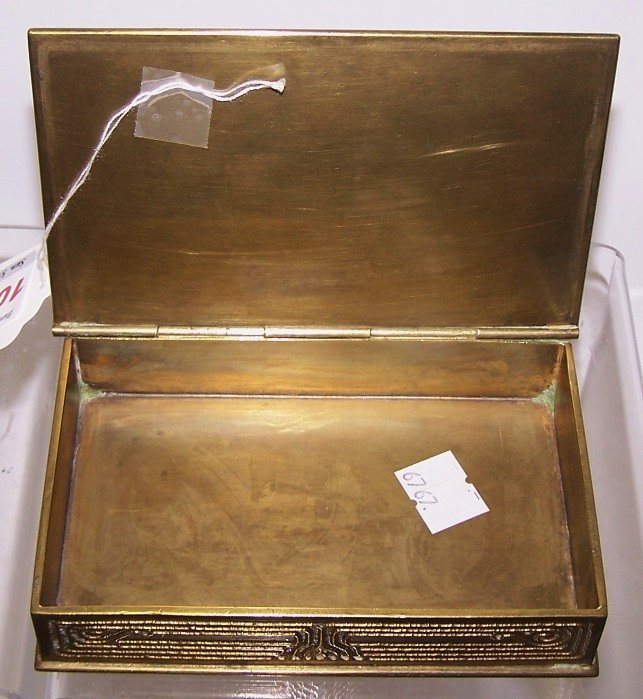 *TIFFANY BRONZE DESK BOX - 2