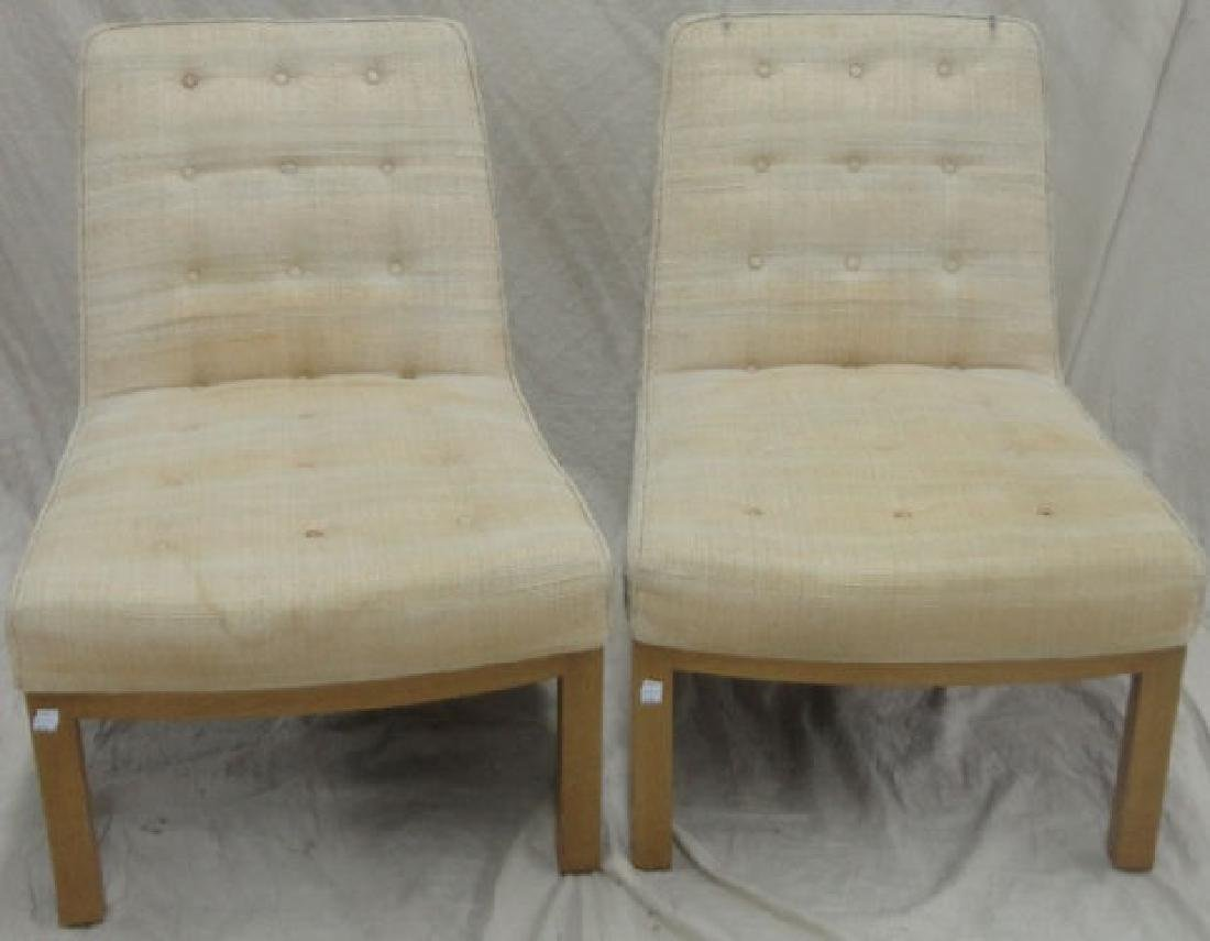 *PAIR OF DUNBAR SLIPPER CHAIRS