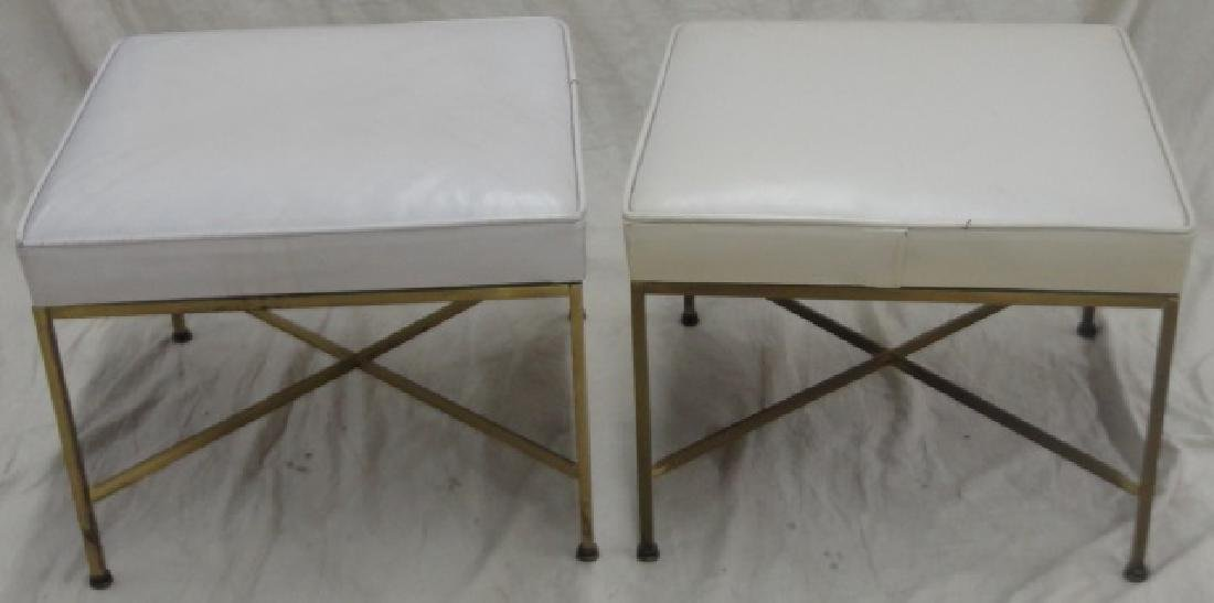 *PAIR OF MID-CENTURY MODERN BENCHES