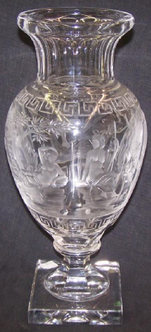 *CUT GLASS VASE - 2