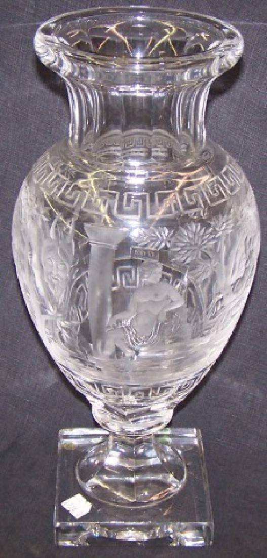*CUT GLASS VASE - 4