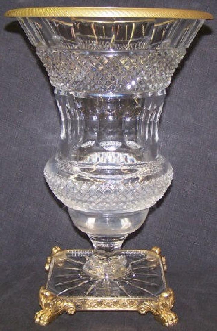 *CLASSICAL STYLE CUT GLASS URN - 2