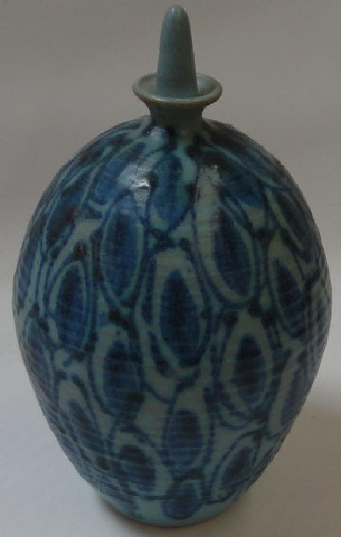 *ART POTTERY STOPPERED VASE