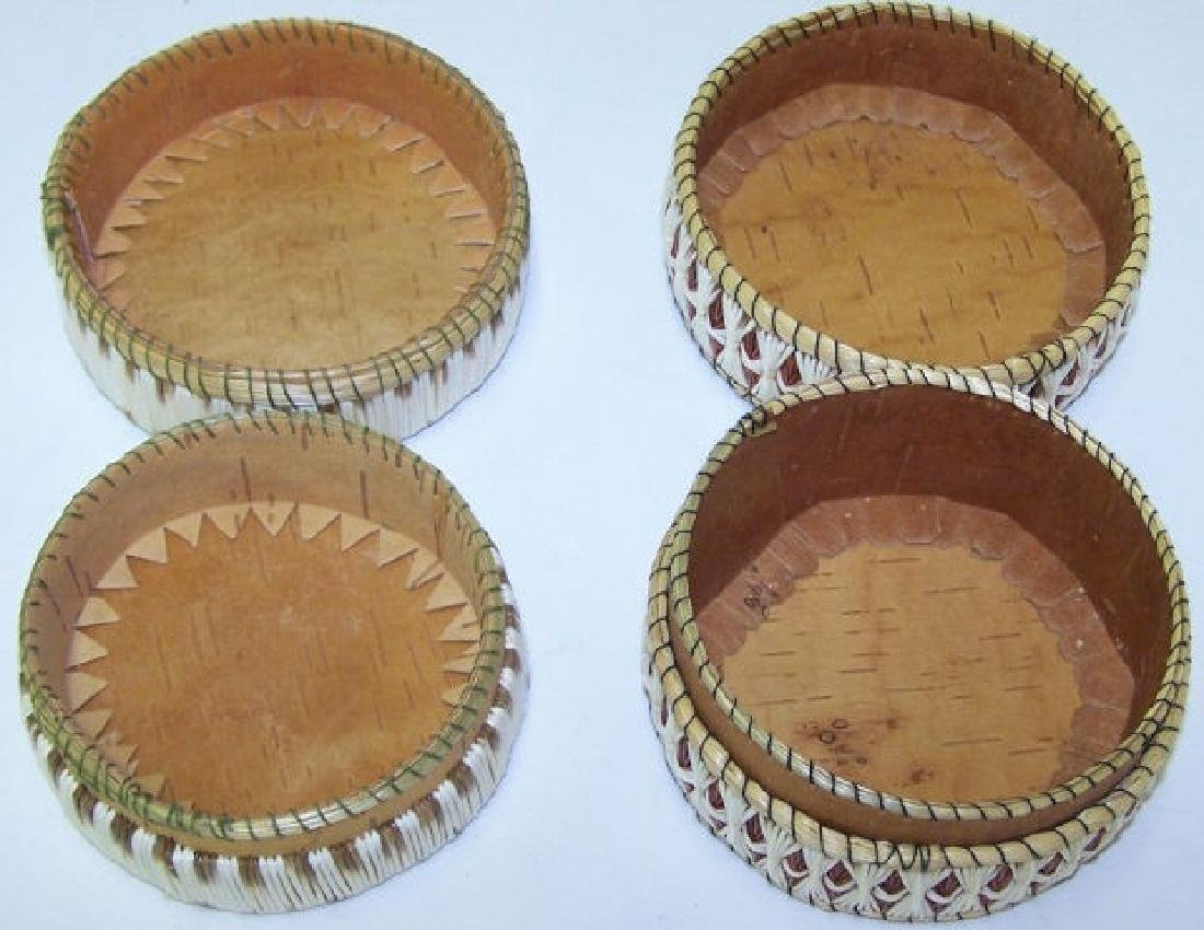 *2 NATIVE AMERICAN QUILL BASKETS - 2