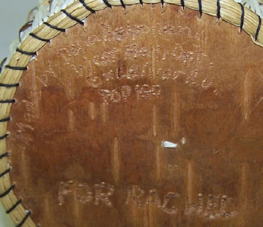 *2 NATIVE AMERICAN QUILL BASKETS - 5