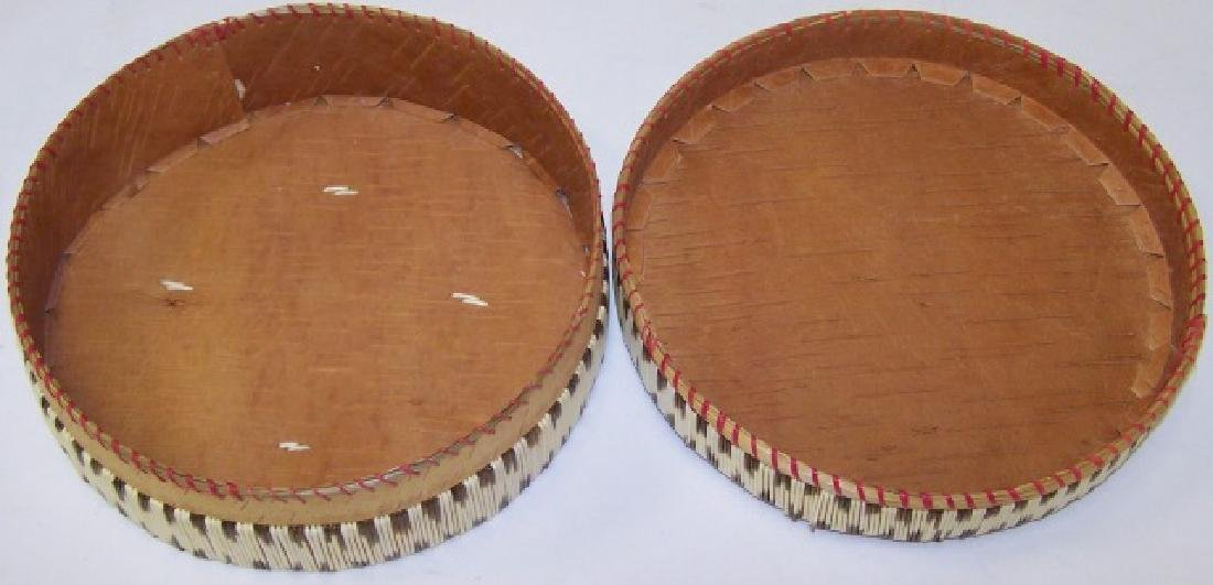 *NATIVE AMERICAN QUILL BASKET - 2