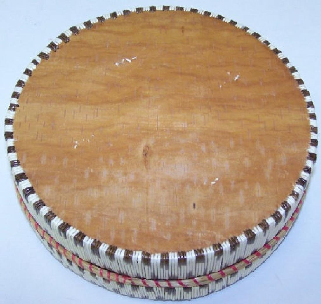 *NATIVE AMERICAN QUILL BASKET - 3