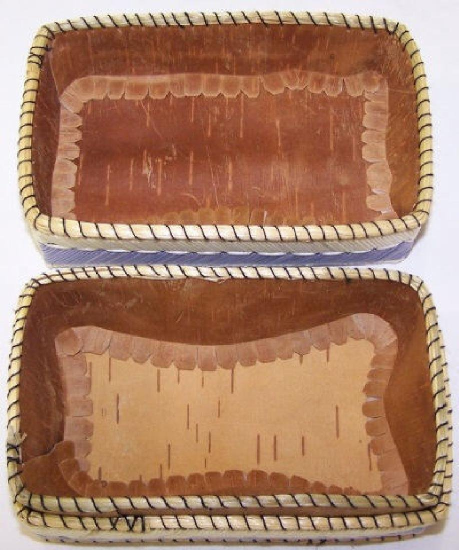 *NATIVE AMERICAN QUILL BASKET - 4