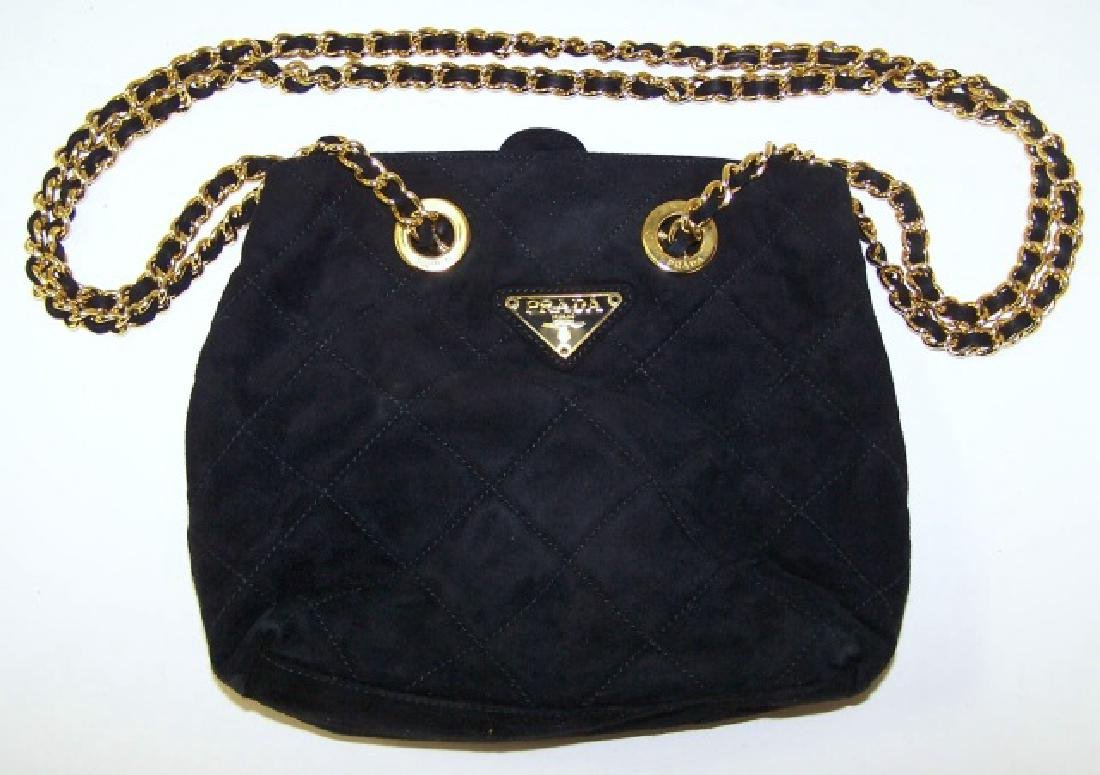 *BLACK PRADA SHOULDER BAG