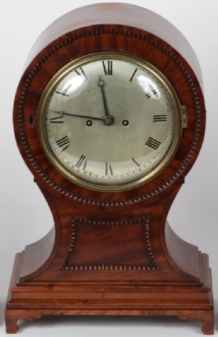 19TH C. MANTEL CLOCK