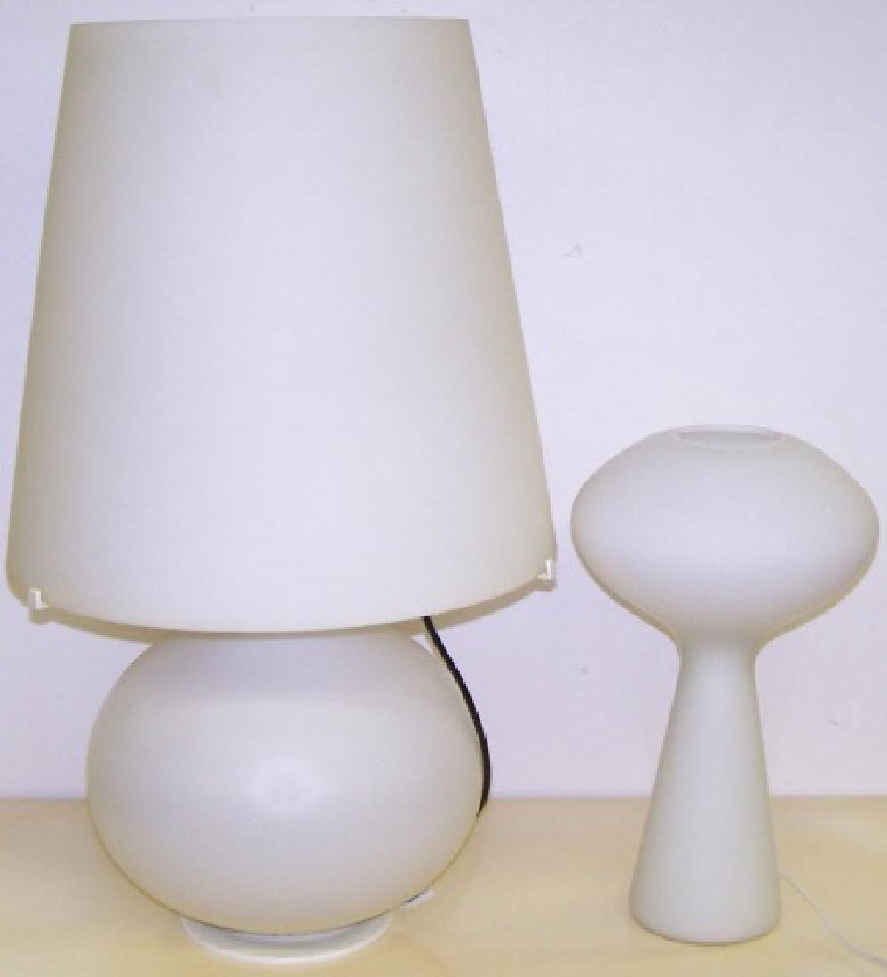 *2 CONTEMPORARY LAMPS