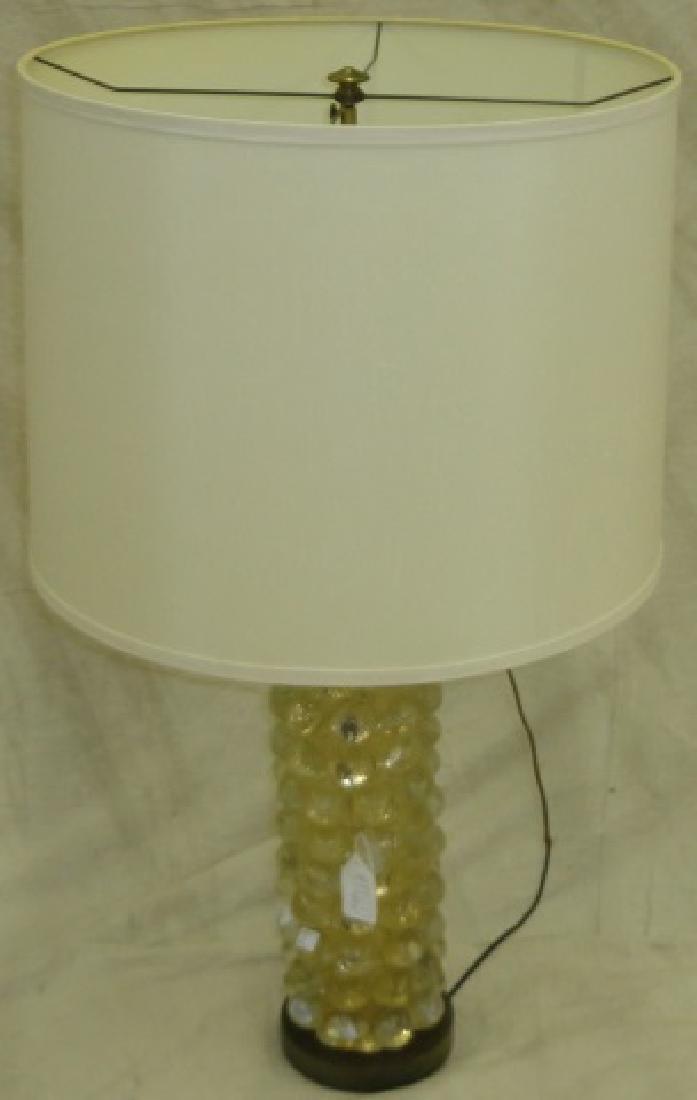 *VENETIAN GLASS TABLE LAMP