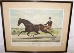 ANTIQUE CURRIER  IVES HANDCOLORED LITHOGRAPH