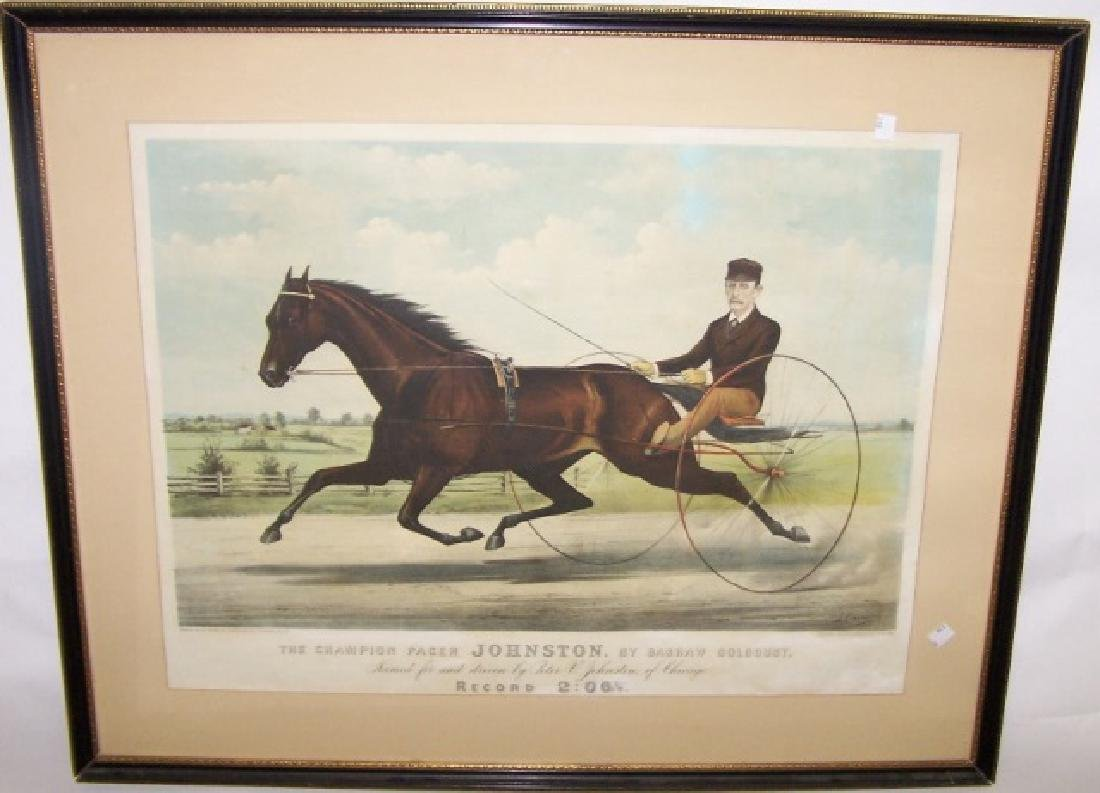 *ANTIQUE CURRIER & IVES HANDCOLORED LITHOGRAPH