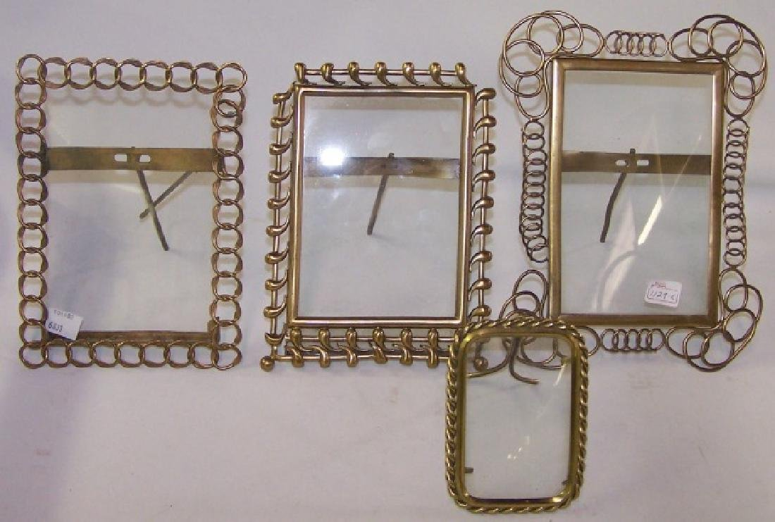 *4 DECORATIVE BRASS FRAMES