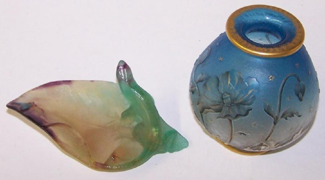 *2 PIECES OF DAUM ART GLASS