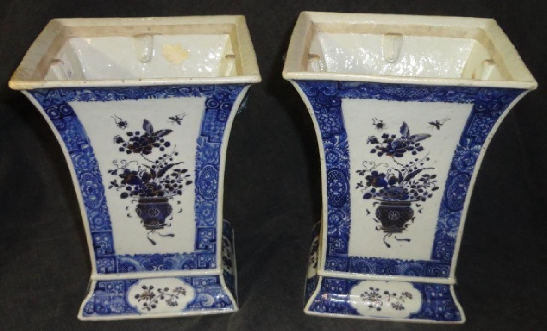 *PAIR OF CHINESE BLUE AND WHITE PORCELAIN VASES