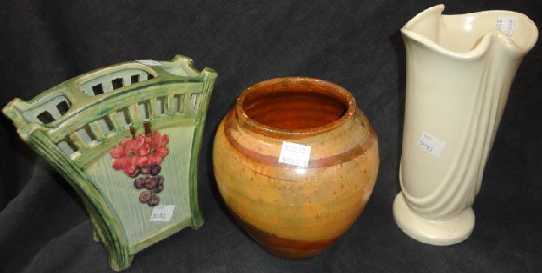 *3 PIECES OF ART POTTERY