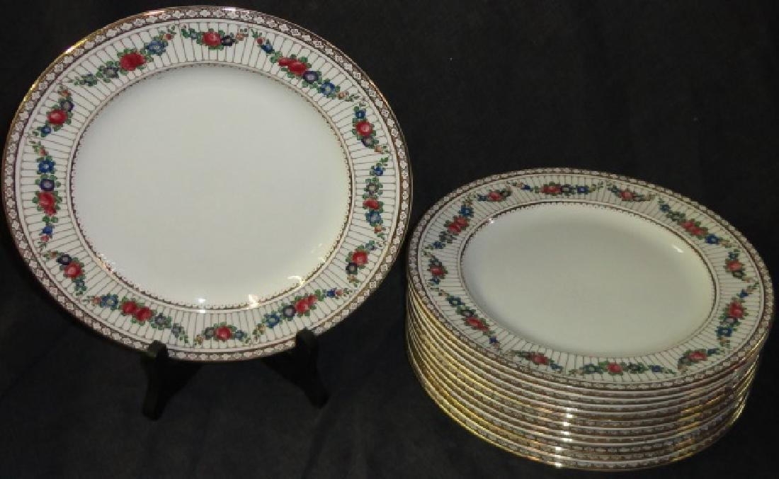 *SET OF 12 BOOTHS PORCELAIN PLATES