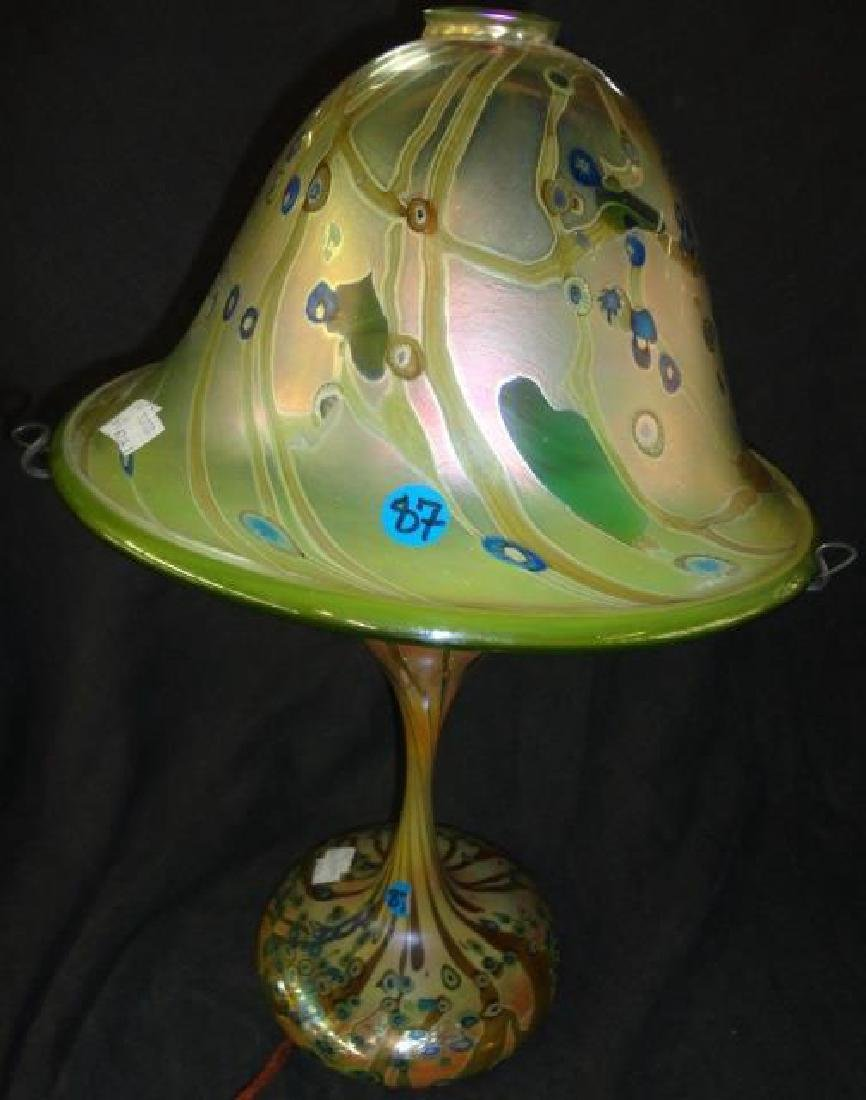 *CONTEMPORARY ART GLASS LAMP
