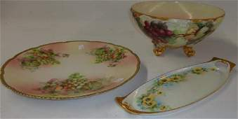 3 PIECES OF HANDPAINTED CHINA