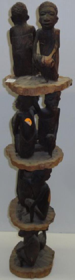 *CARVED AFRICAN SCULPTURE