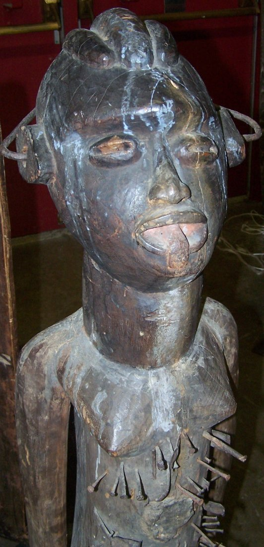 *CARVED AFRICAN SCULPTURE - 2