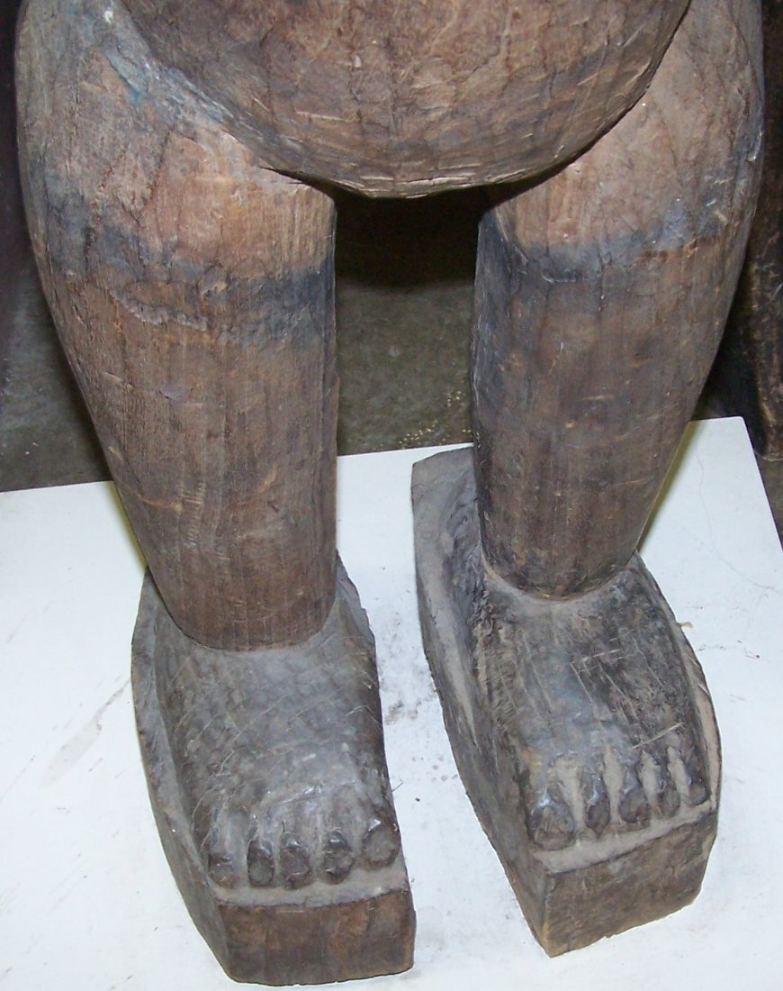 *CARVED AFRICAN SCULPTURE - 5
