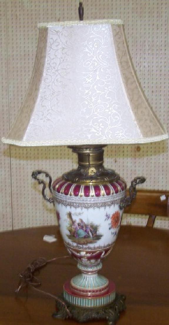 *PORCELAIN OIL LAMP - 2