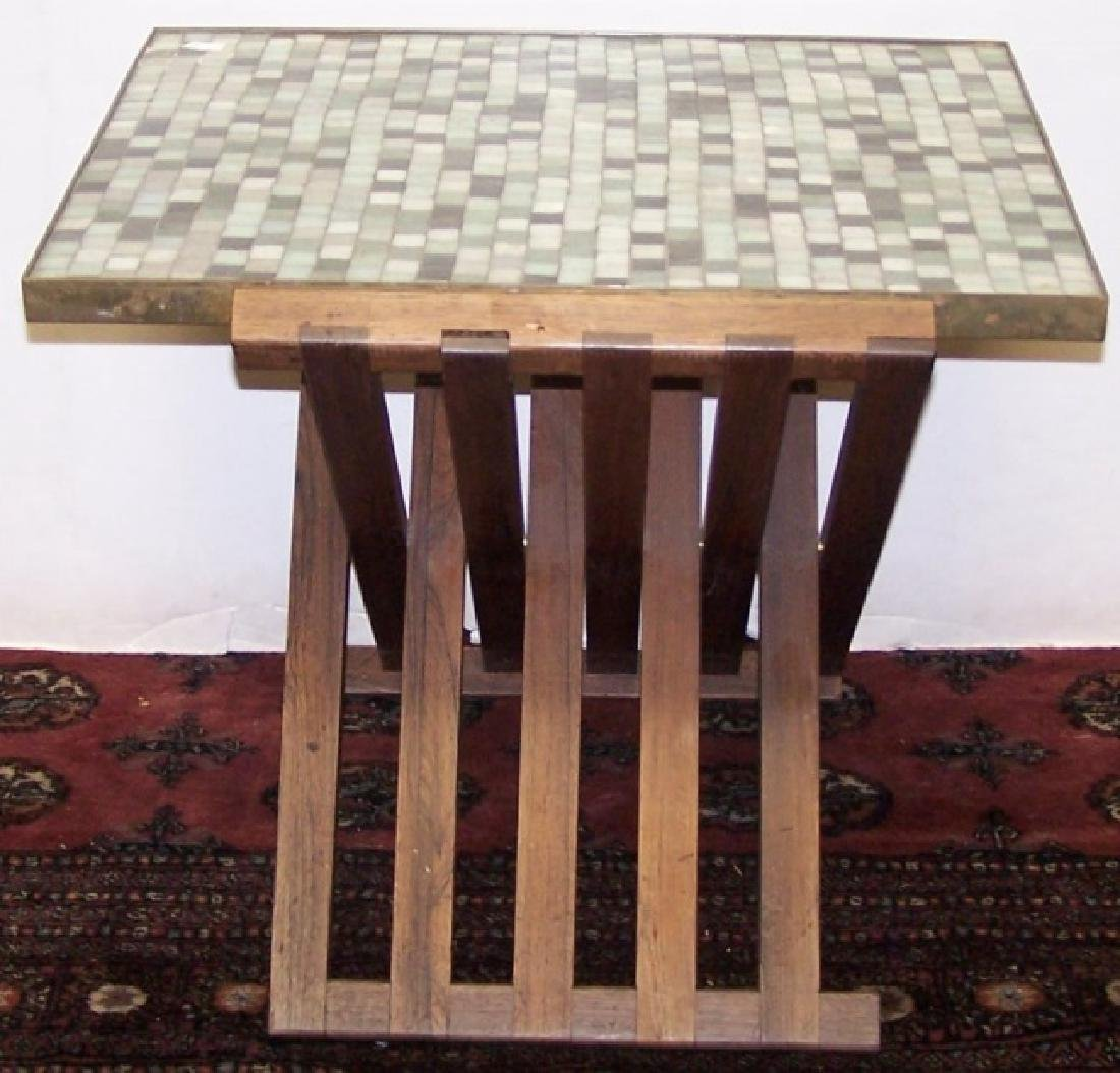 *EDWARD WORMLEY FOR DUNBAR TILE TOP TABLE