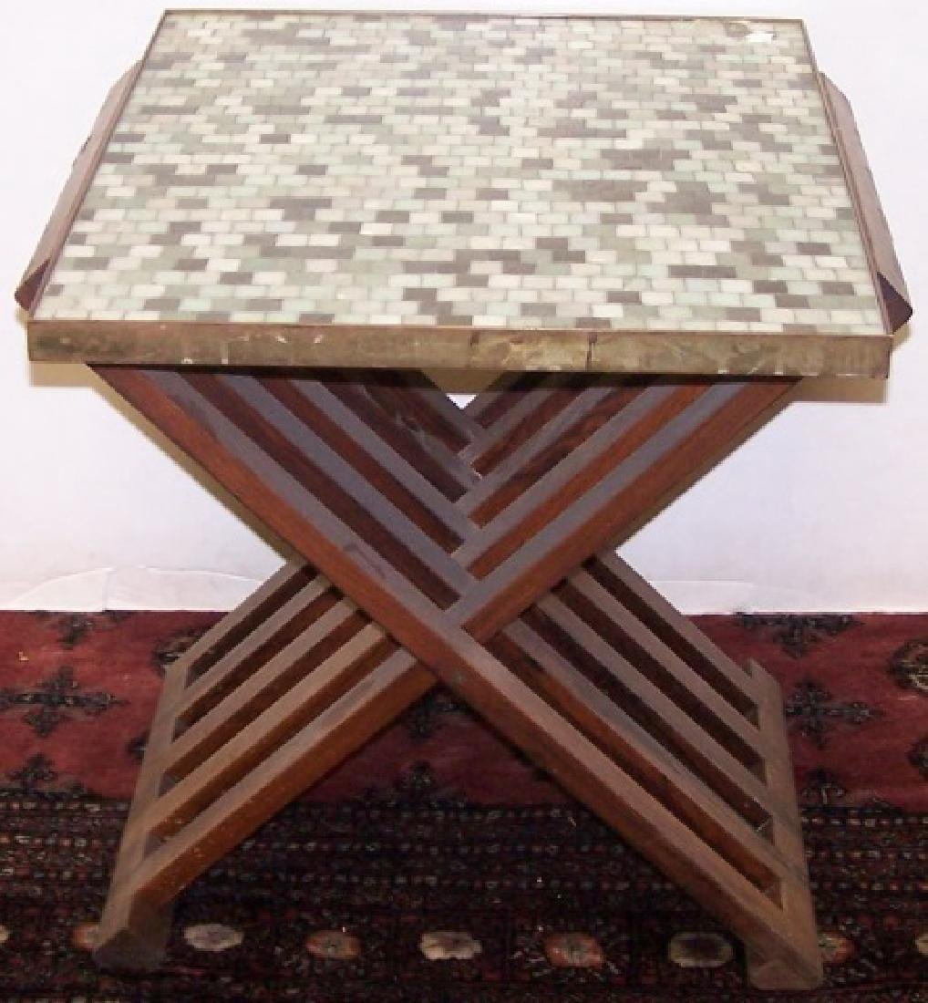 *EDWARD WORMLEY FOR DUNBAR TILE TOP TABLE - 4