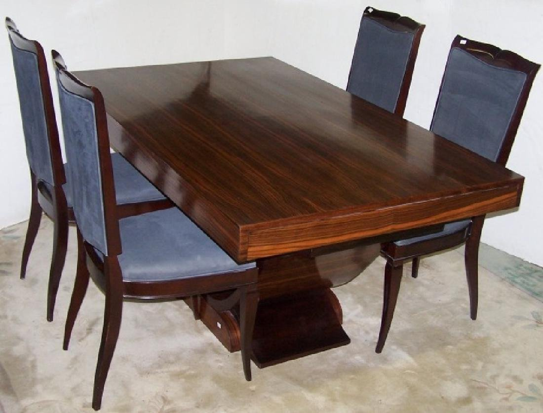 *9-PIECE CONTEMPORARY DINING SET