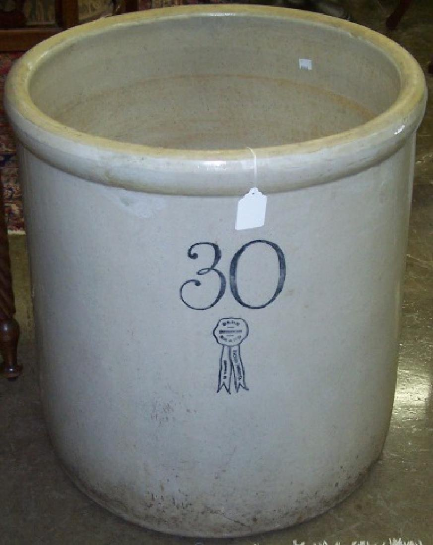 *30-GALLON STONEWARE CROCK