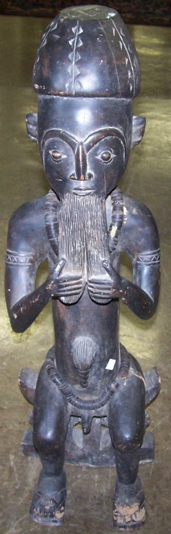 *AFRICAN CARVED WOOD FIGURE