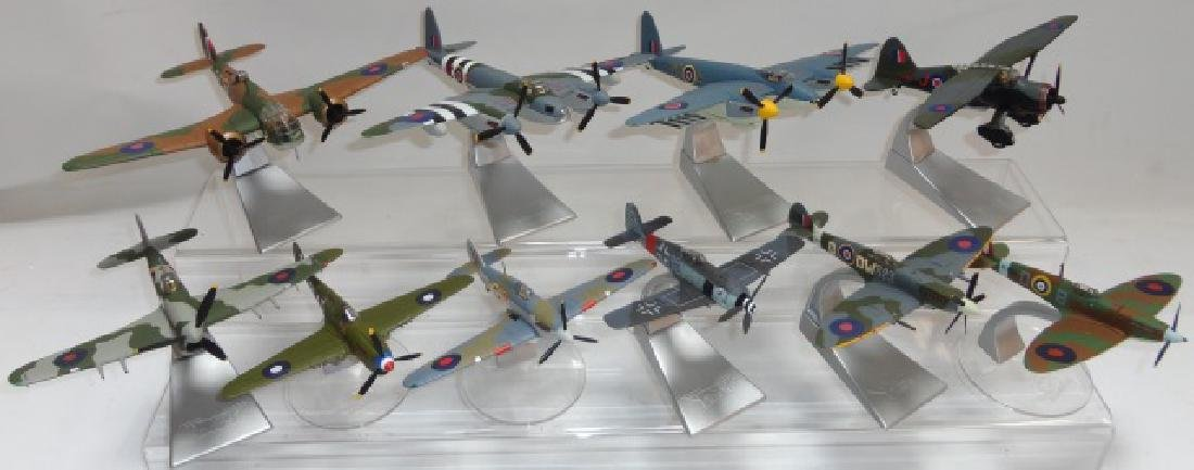 *GROUP OF 10 WWII AIRCRAFT MODELS