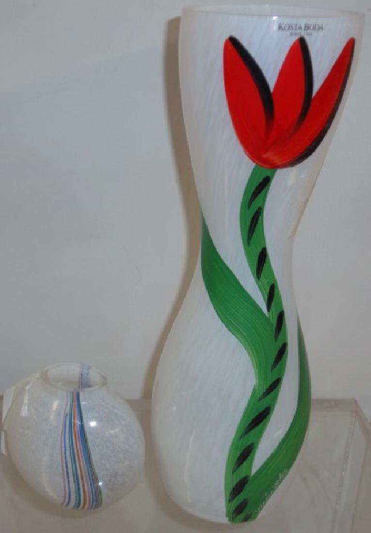 2 PIECES OF KOSTA BODA ART GLASS