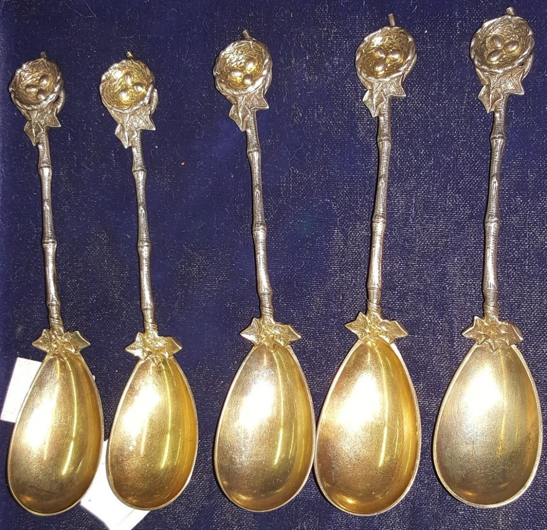 *16 STERLING SILVER SPOONS - 2