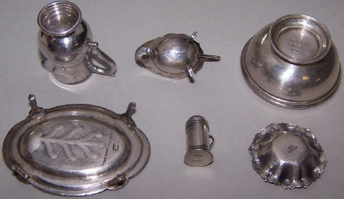*6 PIECES OF MINIATURE STERLING SILVER - 2
