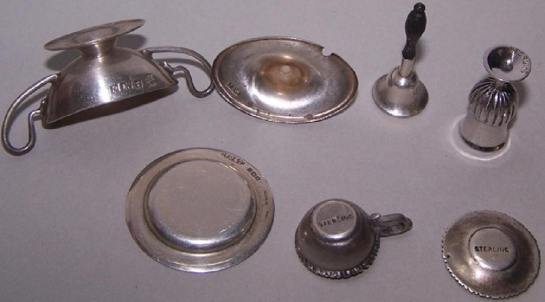 *6 PIECES OF MINIATURE STERLING SILVER - 3