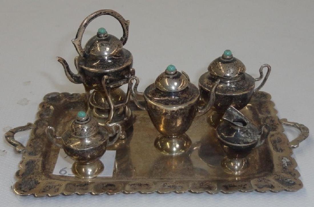 *6-PIECE MEXICAN STERLING SILVER COFFEE SERVICE