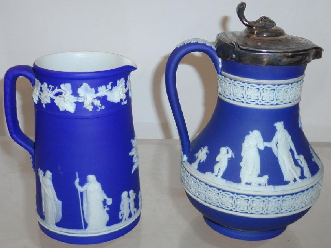 2 PIECES OF BLUE WEDGWOOD - 2