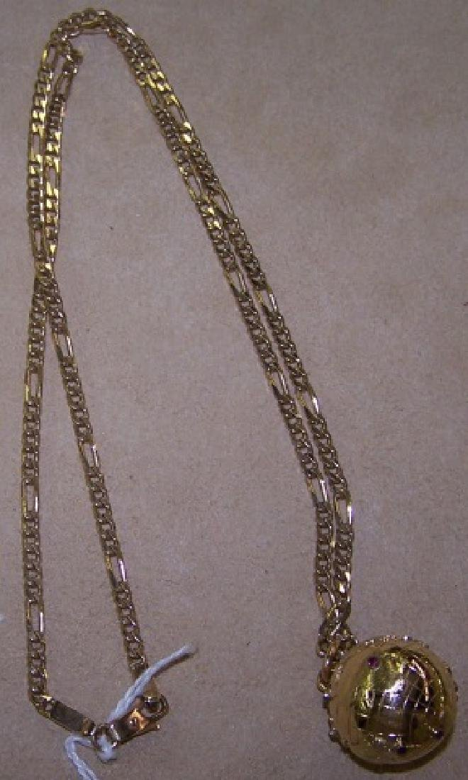 *YELLOW GOLD PENDANT NECKLACE