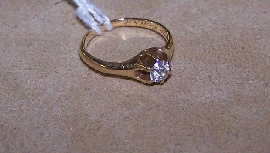 *ANTIQUE YELLOW GOLD RING