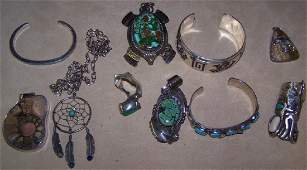 GROUP OF MISCELLANEOUS SILVER JEWELRY