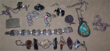 *GROUP OF MISCELLANEOUS SILVER JEWELRY