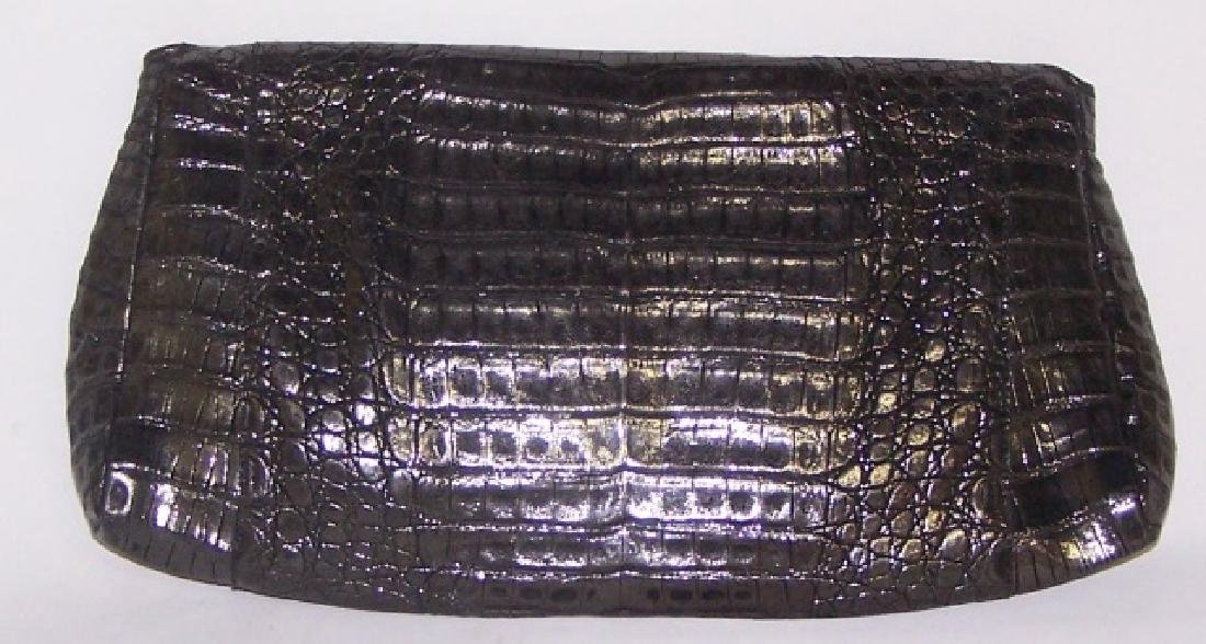 *NANCY GONZALEZ BLACK LEATHER CLUTCH