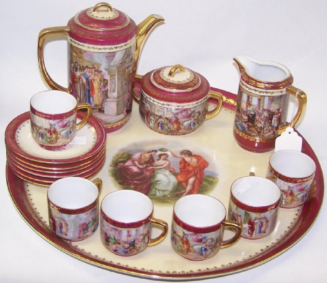 16-PIECE CZECHOSLOVAKIAN TEA SERVICE