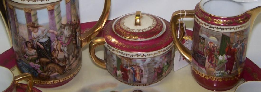 16-PIECE CZECHOSLOVAKIAN TEA SERVICE - 3