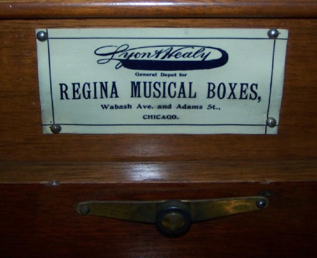*19TH C. REGINA DISC MUSIC BOX - 4