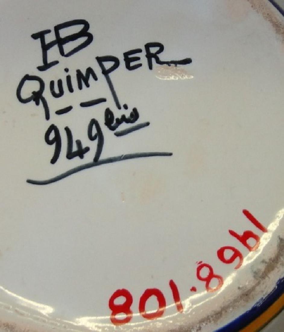 *QUIMPER 2-HANDLED VASE - 3